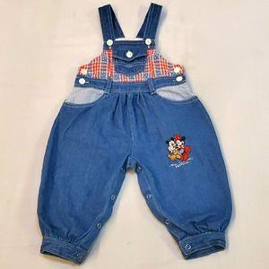 Vintage Disney wear mini & micky mouse Overalls